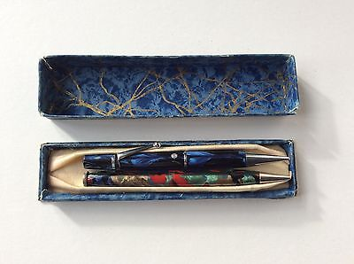 Vintage Marbled Pencil And Pen