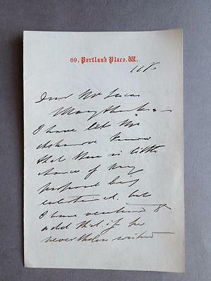 George Goschen, Chancellor of the Exchequer, ALS, SIGNED letter, 1870
