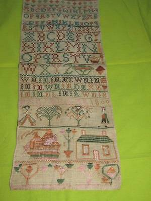 Fabulous Rare Regency 1800 Band Sampler Mary Millar