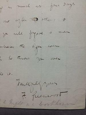 James Greenwood, Journalist, Night in a Workhouse, ALS, SIGNED letter