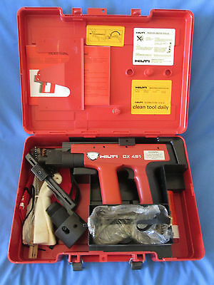 Hilti DX 451 Powder Actuated Ramset Fastening Tool NEW UNUSED With Case & Spares