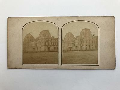 Early Stereoview 1850s Building View in Paris France