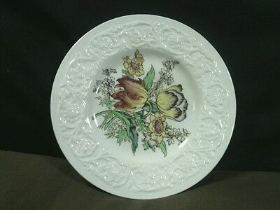 """Vtg.Booths Silicon China""""Corinthian""""Larkspur Floral Bread/Butter Plate, England"""