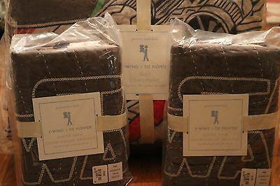 New 3Pc Pottery Barn Kids Star Wars Xwing Full/queen Quilt & Standard Shams Nwt