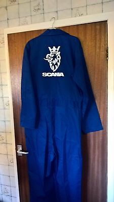 BNWT Scania  Boiler Suit - Overall   Blue  Size Medium (Long)