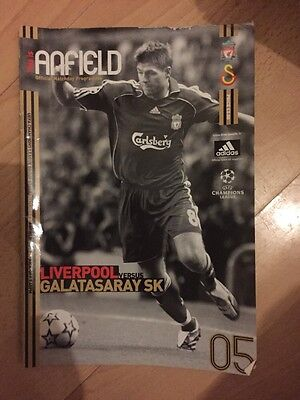 Liverpool V Galatasaray Sk Champions League Programme 2006.