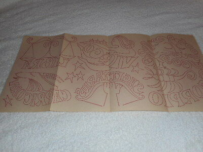 Vintage Embroidery Iron On Transfer - Signs of Zodiac