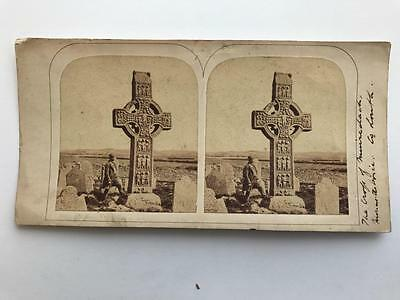 Early Stereoview 1850s Celtic Cross Co Louth Ireland