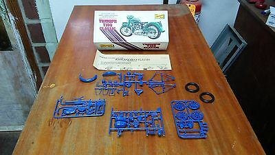 Vintage 1973 Lindberg Line Triumph T100 Classic Motorcycle Model Kit New in Box!