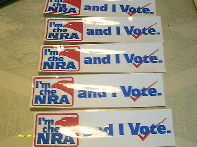 """Lot of 5 """" I'm the NRA and I Vote """" decals bumperstickers"""