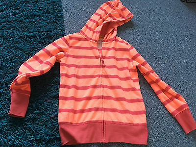 NEXT bright coloured fleece hooded zip up top aged 10 years VGC
