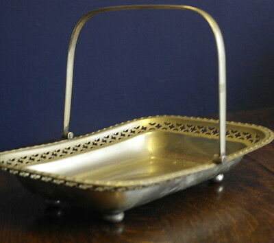 antique silver plate feat work  SERVING DISH BOWL