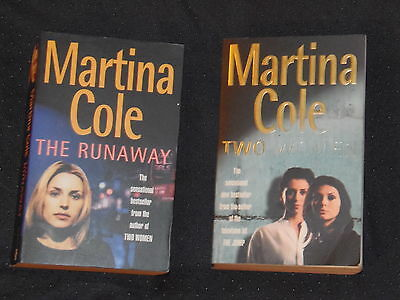 2 books - Martina Cole - The Runaway -  Two Women