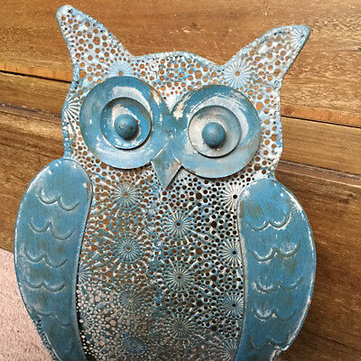 Brand New Metal Owl Ornament Shabby Chic