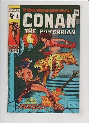 High Grade Marvel Comic: 1971 Conan the Barbarian #5 Windsor-Smith Cover (N-037)