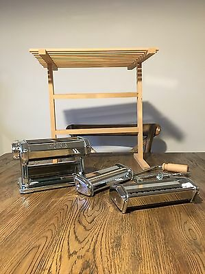 Imperia Pasta Machine Maker Attachments And Collapsible Dryer Stand