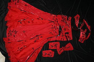 Pharaonics of Egypt Red Professional Belly Dance Costume Bellydance Pharonics