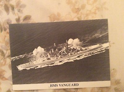 1990 Postcard Photo Hms Vanguard Royal Navy Naval Warship Launched 1944  Clyde
