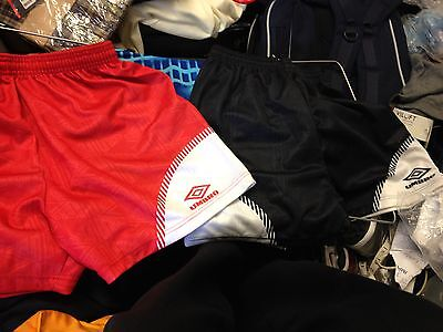 UMBRO SHORTS VINTAGE inred/white 30 32 34 inch inch vintage brand new at £8