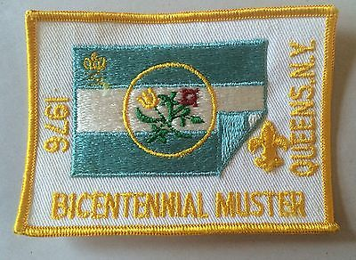 Boy Scouts of America BSA Patch Bicentennial Muster 1976 Queens NY Vintage