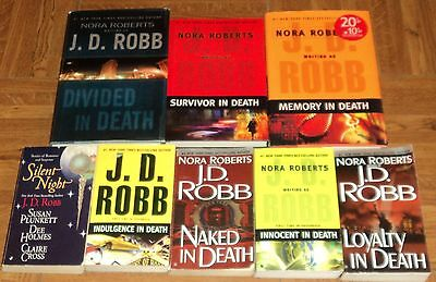 """J. D. ROBB """"THRILLER"""" BOOK COLLECTION - Lot of 8 - Great Reading!!"""