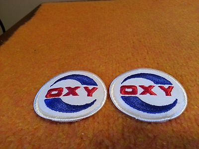 x2 Vintage OXY (GAS) Occidental Petroleum Corporation Sew-On Patch ( NOS )
