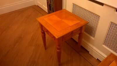 Small Top, Tall Coffee Table - Maple Solid Wood