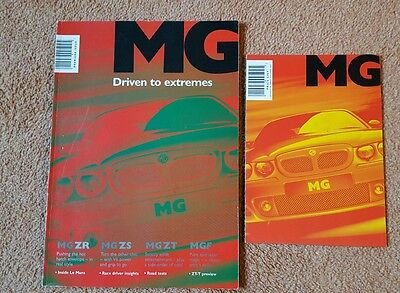 2001 MG ZR ZS ZT ZT-T MGF UK Sales Brochure & Price List - only £6.70 FREE P&P