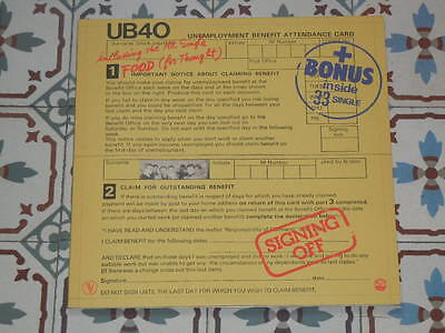 """UB40 - Signing Off FRENCH LP + 12"""" 1980"""
