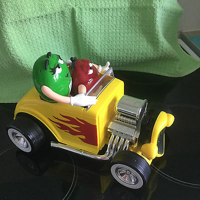 M&M's SWEET / CANDY DISPENSER - REBEL WITHOUT A CLUE HOT ROD CAR