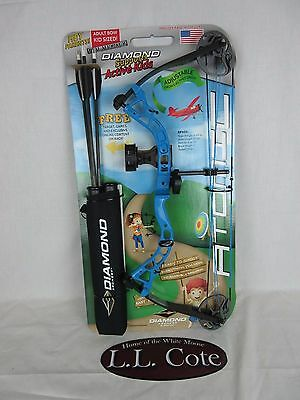 Diamond Atomic Right Hand Youth Compound bow Blue package