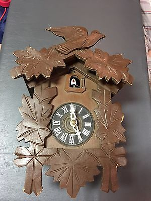Black Forest German Cuckoo Clock for Parts RepairVintage