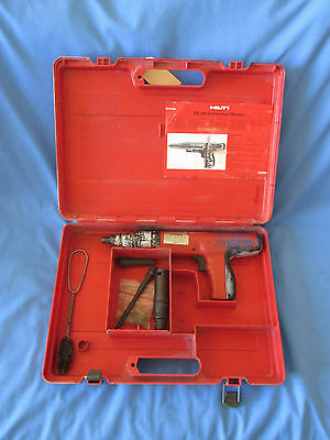 Hilti DX 350 Powder Actuated Fastener/Nail Gun USED Working  With Case & Spares