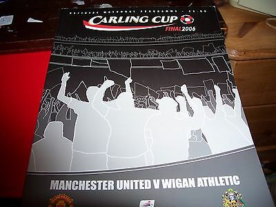 Manchester United V Wigan Carling Cup Final 2006 Programme