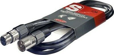 Stagg Microphone Cable in black,High Quality 3M, UK SELLER,FAST DESPATCH