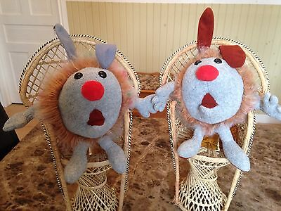 Vintage Big Comfy Couch Dust Bunnies Fuzzy & Wuzzy Pet Plush 1995 Commonwealth