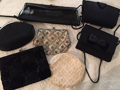 Lot Of 7 Beautiful Vintage Evening Bags