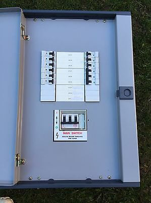 Mem Memshield 6 Way Distribution Board Fuse Consumer Unit 3 Phase Three TPN Box