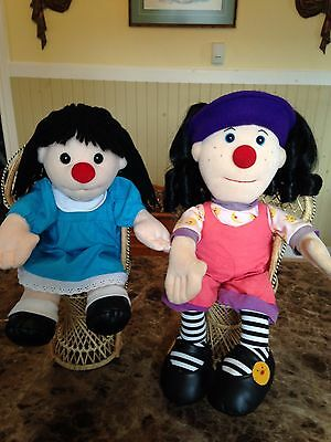 VINTAGE BIG COMFY COUCH Plush Lonette & Molly COMMONWEALTH