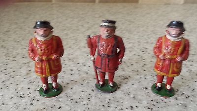 3x Vintage Cherilea Hollowcast Beefeaters