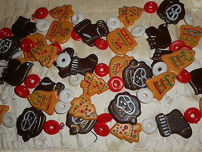 Vintage Christmas Cookies & Candy Garland Hong Kong Tree Ornament Decoration