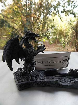 26Cm Black Dragon Incense Holder - Brand New - Fantasy/gothic Giftware