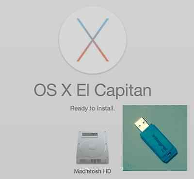 OS X El Capitan 10.11 on 8GB bootable USB drive for Mac Macbook install/recovery