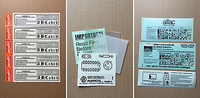 Mixed Lot Of Rub On Transfer Sheets - Letraset / Mecanorma / Decadry / Alfac