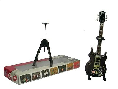 NEW High Quality Miniature Guitar and stand Jerry Garcia Top Hat Skull Grateful
