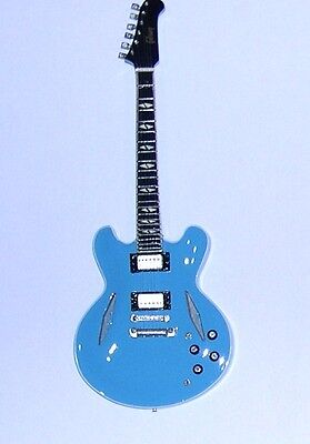 NEW High Quality Miniature Guitar & stand Gibson Midtown standard Blue