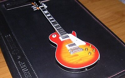 NEW Miniature Guitar and stand - Les paul kiss sunburst Orange Red Jimmy Page