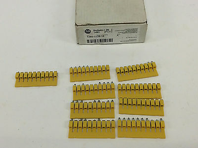 Allen Bradley 1492-CJJ5-10 Screw Center Jumper 10 Pole Yellow LOT OF 9