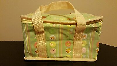 Cherished Teddies Carry Bag Mint Green with Yellow Trim and Handles Brand New
