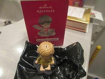 "Hallmark Ornament ""Mary's Angel""  surprise 2016 Rare Gold wings!"